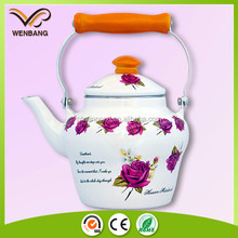 new designed elegant tableware metal kettles enamel teapot