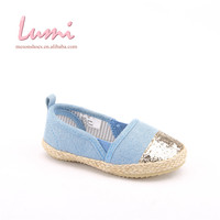 new product sky-blue slip-on fashion kids flat shoes children espadrilles