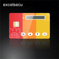 ESECU High quality personalized Credential Smart Card for secure banking with LCD display