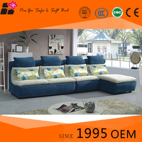 Small contemporary fabric corner sofa bed sets sale with sofa table and slipcovers