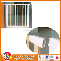 folding fence gate wooden material baby safety gate