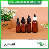 10ml amber glass dropper bottle with cap and pipette and rubber bottle for e liquid cosmetic essential oil packing