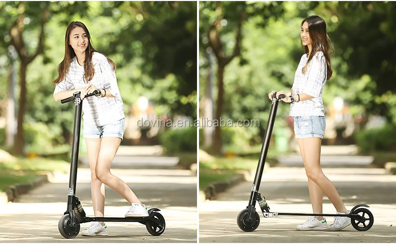 2 Wheels Aluminum adult kick folding electric scooter