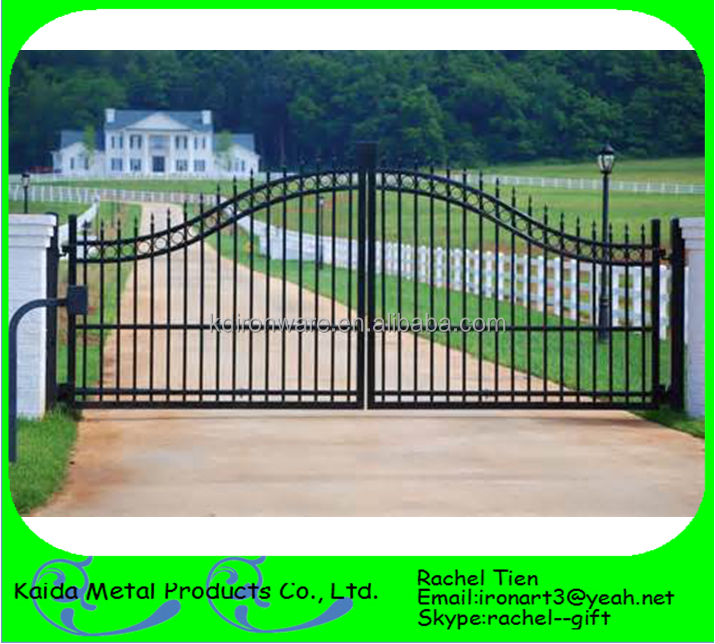 cheap wrought iron driveway/main gates design