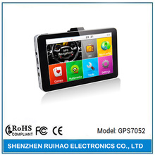 7 inch ce 6.0 truck gps navigation SiRF Atlas VI av-in bluetooth 256M 8G with 2.4g wireless back up camera receiver