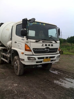 Used concrete mixer truck Hino Brand construction mixer