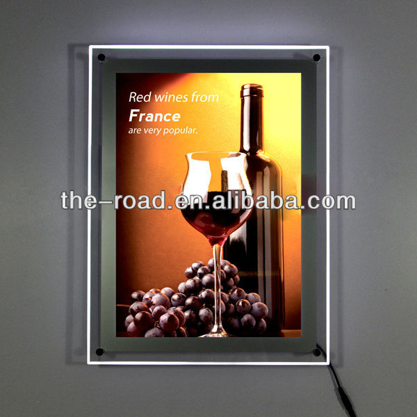 Crystal Led Light Box & Interior Wall Lamp For Beer Picture Frame Light Box