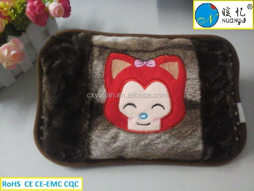 high quality rechargeable electric hot water bottle/cartoon shape electric hot water bag