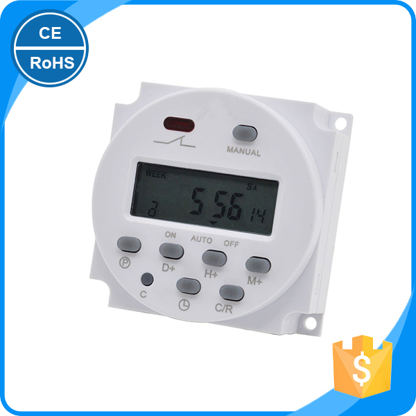 DC 12V LCD Plastic plug-in programmable digital timer switch