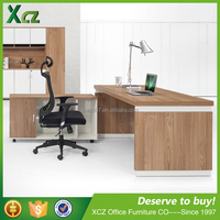 Latest l-shape modern executive desk office table design wooden office table