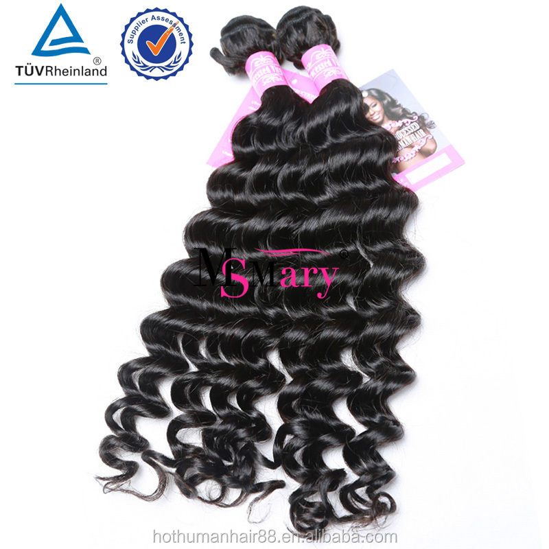 Can Be Bleached And Thick From Weft To The End Beat Quality Grade 8 A Virgin Brazilian Loose Deep Wave Weave HairStyles