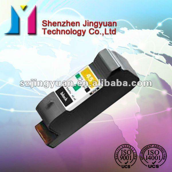 Remanufactured ink cartridge for HP 45 (51645A) with reset chip