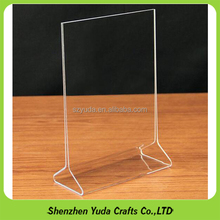 5x7 acrylic sign holder, t shape l shape plastic/perspex/plexiglass, cheap nice great , wholesale, made in china,