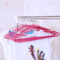 Colorful stainless steel with pvc coated clothes hangers