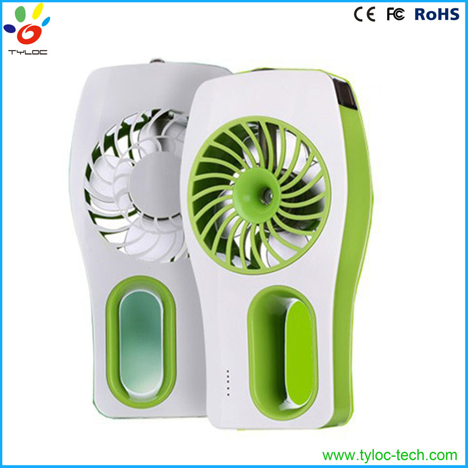 High quality portable rechargeable usb fan with water mist