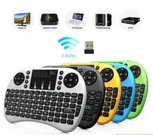 Hot Air Mouse Mini rii i8 wireless keyboard 2.4G Fly mouse for PC android tv box