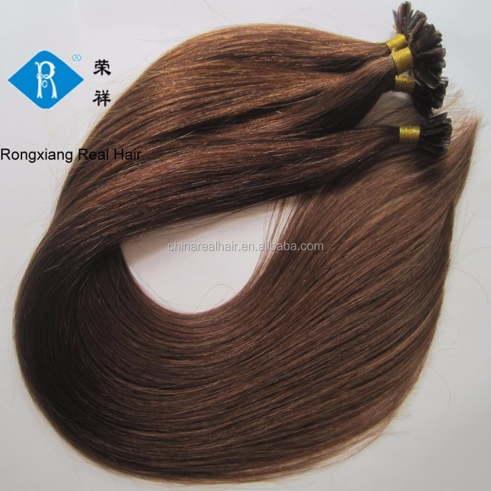 Fast shipping 100% human remy hair nail u tip cold fusion hair extensions