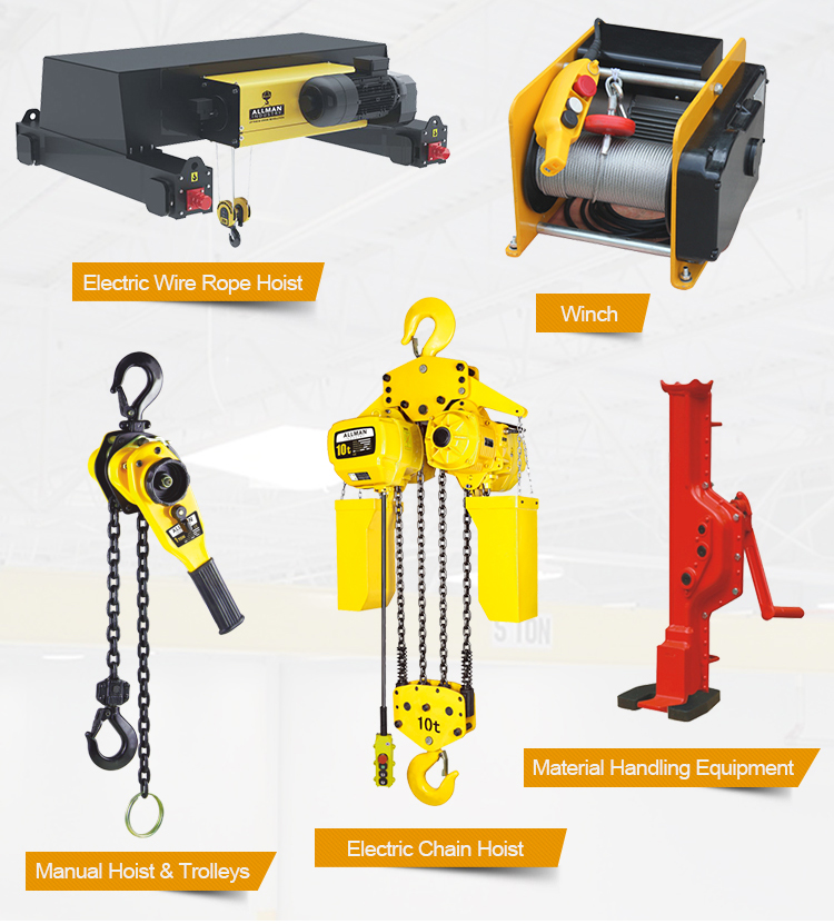 ALLMAN CE approved 250kg to 9ton vital model manual lever chain hoist with overload protection