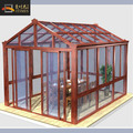 Wooden grain triangle roof style gardening pergola