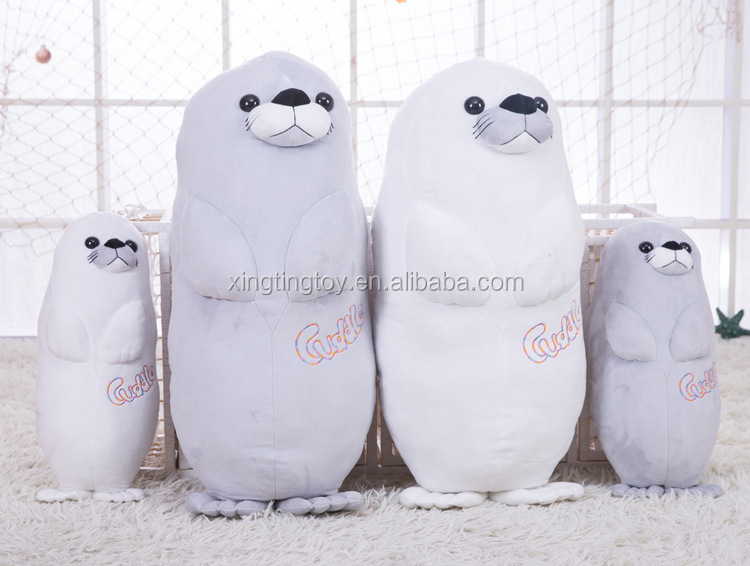 Bulk wholesale lovely sea lion animal plush toys for crane machines