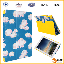 Customized Printing Colorful Rotatable Leather Tablet Case For Girls For Ipad Air
