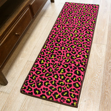 Sexy leopard nylon loop pile knitted mat home decro rug extended floor carpet for kitchen