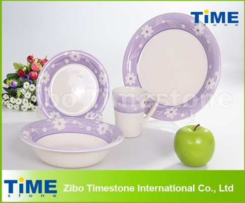 Fashion ceramic handpainted lavender dinnerware