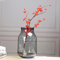 Hand Blown Art Solid Color Glass Bud Vase, Gift Box.