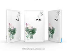 Chinese culture character power bank flower picture power bank