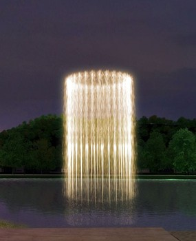 Program or Music Controlled Tower Shaped Water Fountain