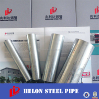 hot dip galv Round steel pipes steel tube gals