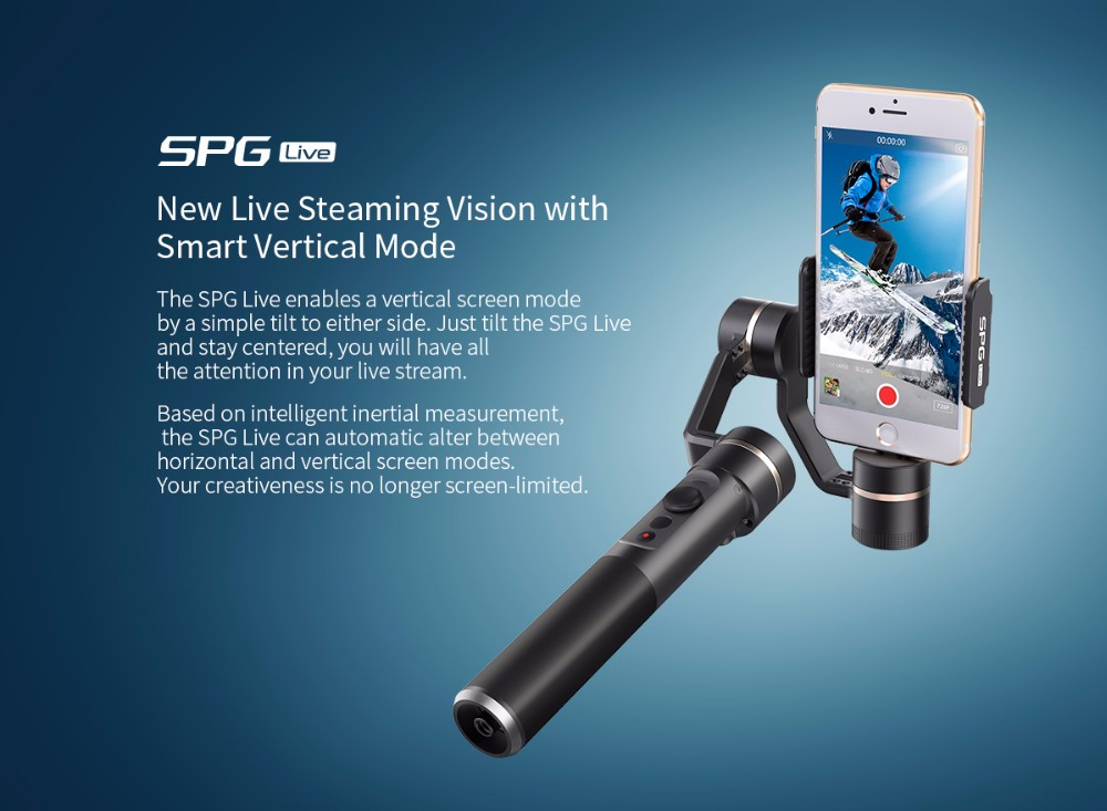 Best selling 3 Axis Brushless Handheld Stabilizer Gimbal for Smartphone iPhone 6 Plus