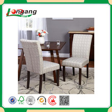 solid wooden arm dining Chair Modern beauty wood legs leather dining chair 2016 canton Fair Cross back chair