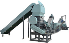 Waste PP woven bag washing line / recycling machine with plastic crusher