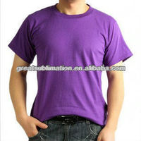 Round neck T-shirt for sublimain printing