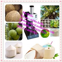 commerical and high effiency electric portable diamond shape green coconut peeling machine/coconut cutting machine