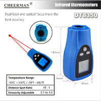 Cheerman palm DT8900 professional dual laser point thermometernon-contact IR infrared thermometer better than GM900