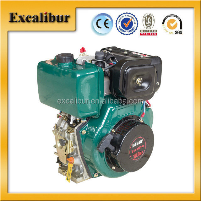 Air-cooled diesel engine S186F 9hp single cylinder 4 stroke excalibur brand