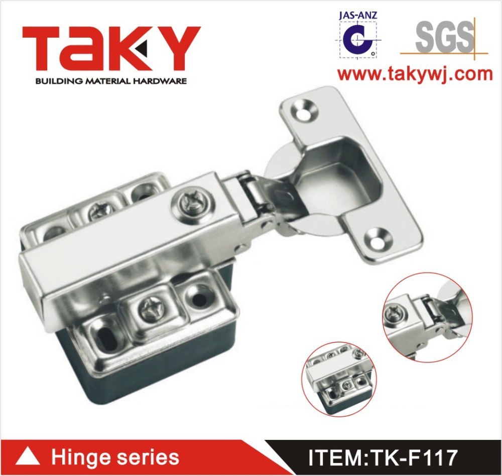 Furniture cabinet plastic hinges