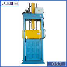 CE certificate more than 20 years factory high efficiency hydraulic used clothes compactor factory price
