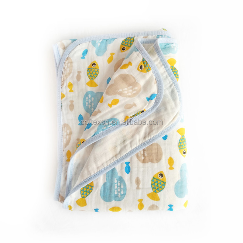 Baby muslin swaddle blanket for baby car canopy breathable soft 100% cotton