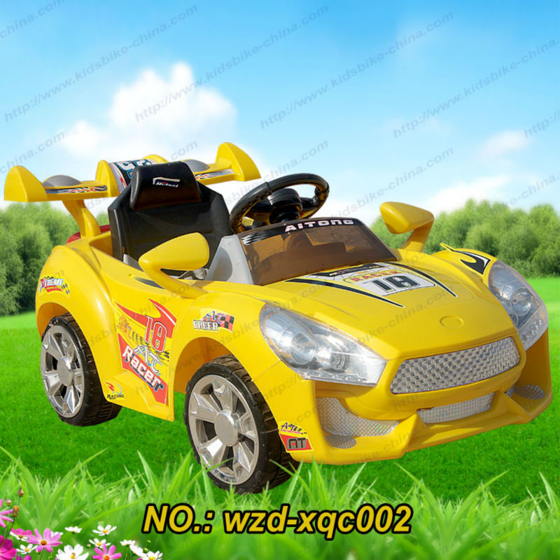 electric ride on car rc kids car with 2 battery driving