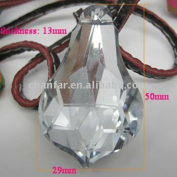 Crystal Gourd shaped pendants