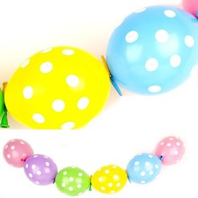 party use polka dot tail balloons factory directly wholesale