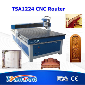 Furniture making machine wooden door engraving machine TSA1224