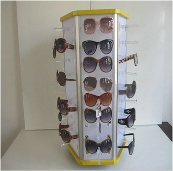 Cheap good quality acrylic glasses display rack with SGS approved for sale