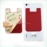 Adhesive 3M Sticker Silicone Smart Wallet Mobile Phone Card Holder