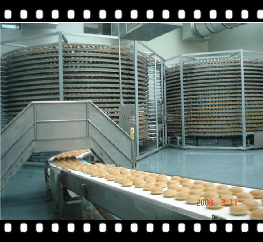bread crumbs making line cooling tower