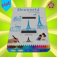 Hot sale preschool educational drawing stencil set for kids to write number and alphabet