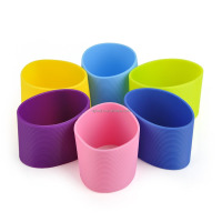 Custom food grade eco-friendly silicone rubber coffee cup sleeve